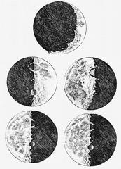 Galileo's sketches of the moon