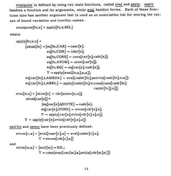 Lisp as the Maxwell's equations of software | DDI